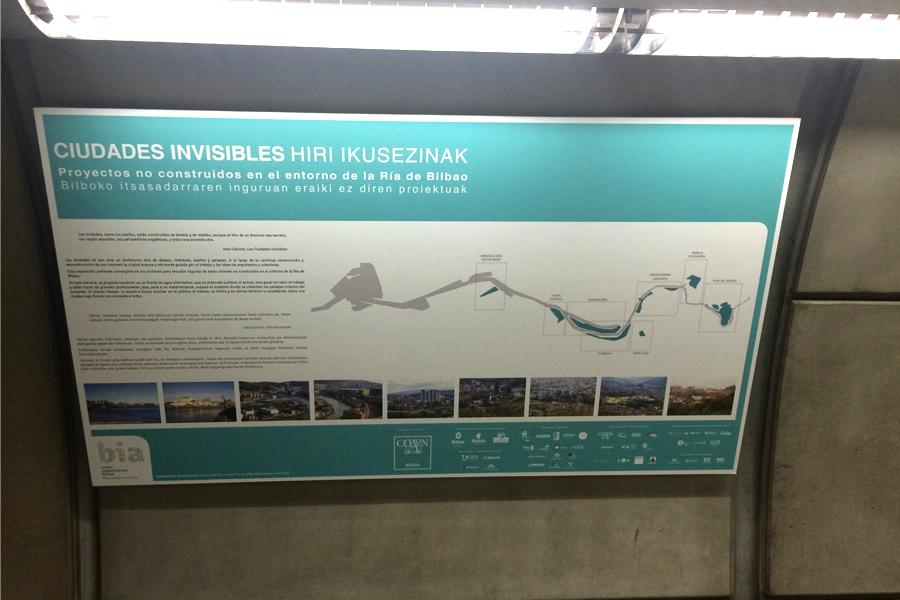 Ciudades invisibles. Proyectos no construidos en el entorno de la ria de Bbilbao en el metro.